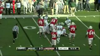 Travis Frederick vs Michigan State (2012)