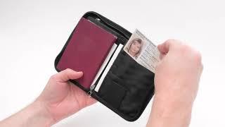 Компактный кошелек-чехол для денег и документов. Tatonka Travel Zip M RFID