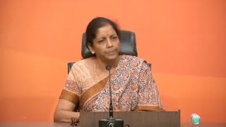 Press Conference by Smt. Nirmala Sitharaman at BJP Central Office, New Delhi : 17.10.2017