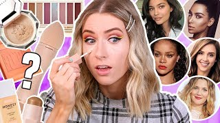 I TRIED A FULL FACE OF CELEBRITY MAKEUP BRANDS… | KKW, FENTY BEAUTY, KYLIE COSMETICS?? by Rachhloves