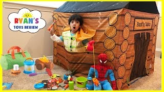 Video Pretend Play Food Toy Camping & Fishing! Fun Activities for Kids! Cooking Kinder Egg Surprise Toys MP3, 3GP, MP4, WEBM, AVI, FLV Mei 2017