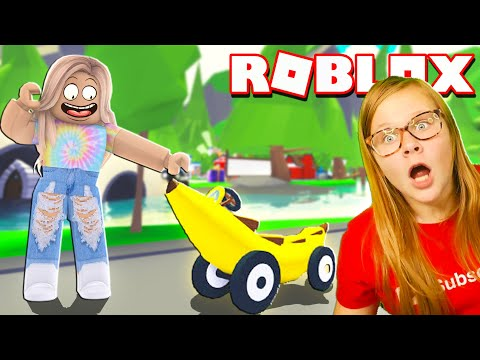 Assistant Play ROBLOX Adopt Me for a Legendary Banana Car and Dinosaur