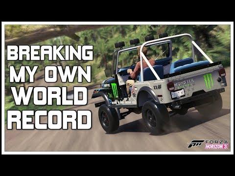 Forza Horizon 3 - BEATING MY OWN RECORD!!!!