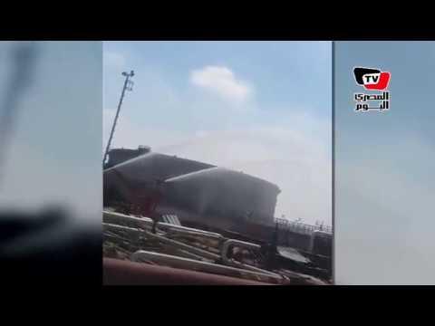 الحماية المدنية تسيطر على حريق نشب بأحد تنكات «السويس لتصنيع البترول»