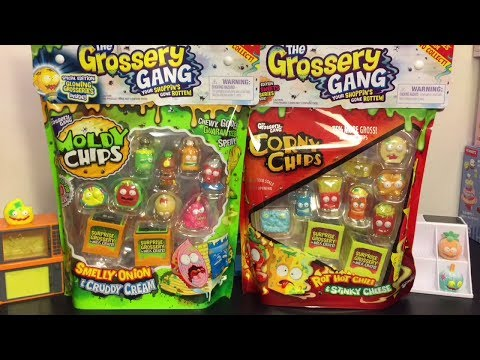 Grossery Gang Series 2 Moldy Chip & Series 1 Corny Chips Bags * Toy Opening