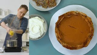 5 Spice Pumpkin Pie with Phyllo Crust - The Slice by Everyday Food