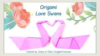 Valentine's Day Crafts - Origami Swan - Love Birds - Origami Bird - Easy Paper Crafts Kids Classroom - YouTube
