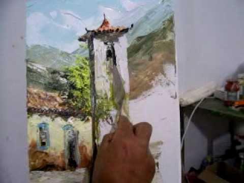 Pintura com espatula