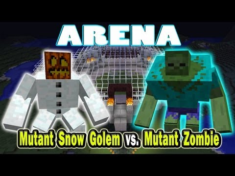 Minecraft Arena Battle Mutant Snow Golem vs. Mutant Zombie