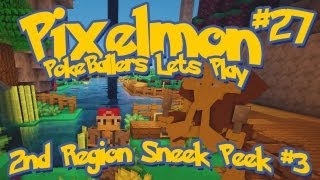 Pixelmon Server Minecraft Pokemon Mod Pokeballers Lets Play! Ep 27 - 2nd Region Sneak Peek #3