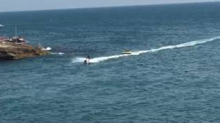 Jet ski pulling a air-couch