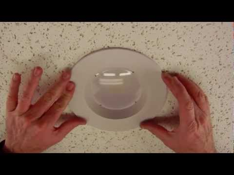 "How to adjust our LED retrofit recessed trim from 6"" to 5"""