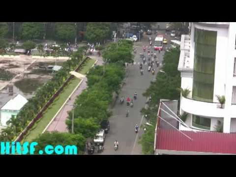 View from Blue Skye Restaurant - Elios Hotel Saigon Vietnam