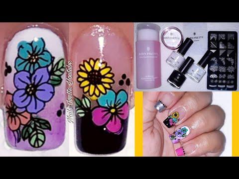 Decoracion de uñas - Decoración de uñas flores con productos de BORN PRETTY Sin usar pinceles, ni pinturas Acrílicas