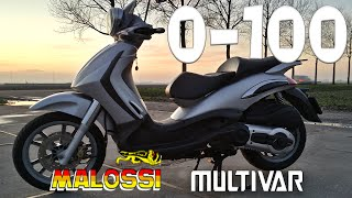 9. Piaggio Beverly 500 acceleration 0-100 | MALOSSI MULTIVAR | JMP PERFORMANCE TEST