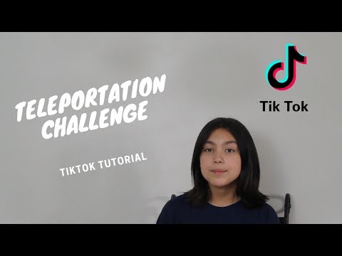 TikTok Teleporting Challenge Tutorial   How to Teleport