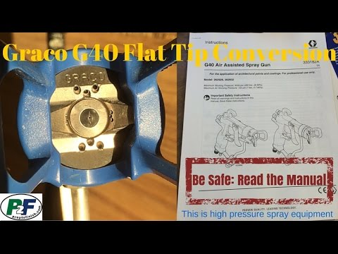 How to convert a Graco G40 from RAC to Flat Tip for Fine FinishingHow to convert a Graco G40 from RAC to Flat Tip for Fine Finishing<media:title />