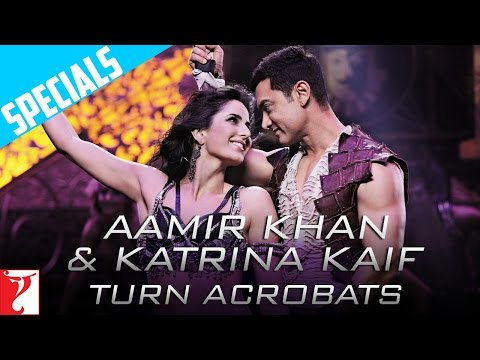 & - Exclusive behind the scenes footage from Dhoom:3 - Aamir Khan & Katrina Kaif learn some cool acrobatic moves for the song 'Malang'. DHOOM:3. Starring Aamir K...