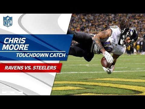 Video: Chris Moore Cuts Lead on this Big TD Catch vs. Pittsburgh! | Ravens vs. Steelers | NFL Wk 14
