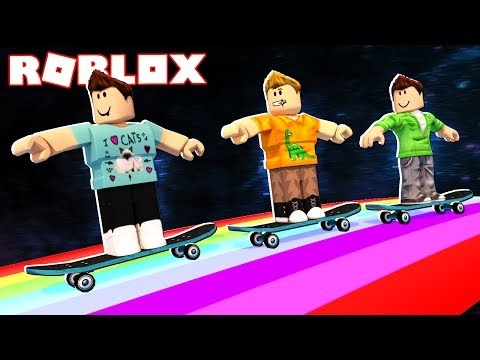 SKATE DOWN A RAINBOW TO THE WINNERS IN ROBLOX!
