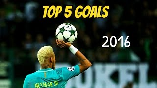 """Neymar and his best 5 goals in 2K16. Enjoy! ----------------------------------------------------------------------------------------------""""Buy cheap soccer jerseys with code: FCB10 in gogoalshop.com http://bit.ly/2cV0VPy"""" ----------------------------------------------------------------------------------------------STAY UPDATE! LIKE, SUBSCRIBE AND SHARE!Video Created by: FCB10HD / Juraj GaziSoftware used: Sony Vegas Pro 13If you like my videos don't forget to follow me on this links: • FACEBOOK: http://on.fb.me/1PcwJJj• TWITTER: https://twitter.com/FCBC10• INSTAGRAM: https://www.instagram.com/fcb10hd_footballeditor/• DONATE: https://www.paypal.com/cgi-bin/webscr?cmd=_s-xclick&hosted_button_id=4FN5686MKXDAL----------------------------------------------------------------------------------------------Soundtrack: Battle of the Titans (Royalty Free Music)THANKS FOR WATCHING! """"Copyright Disclaimer Under Section 107 of the Copyright Act 1976, allowance is made for """"fair use"""" for purposes such as criticism, comment, news reporting, teaching, scholarship, and research. Fair use is a use permitted by copyright statute that might otherwise be infringing. Non-profit, educational or personal use tips the balance in favor of fair use.""""----------------------------------------------------------------------------------------------IGNORE TAGS:FC Barcelona, Marc-André ter Stegen, Jasper Cillessen, Jordi Masip, Gerard Piqué, Javier Mascherano, Jérémy Mathieu, Samuel Umtiti (new signing), Lucas Digne (new signing), Jordi Alba, Alex Vidal, Douglas (loaned-out), Sergio Busquets, Sergi Samper (loaned-out), Andrés Iniesta, Ivan Rakitic, Arda Turan, Rafinha, Sergi Roberto, André Gomes, Denis Suarez, Neymar, Lionel Messi, Luis Suárez, Paco AlcacerLionel Messi ● 10 Virtually Impossible Goals ► Not Even Possible on PlayStation ! HDLionel Messi ► 2016 - The King ● Dribbling Skills, Goals HDLionel Messi ● Overall 2016 ● HDLionel Messi ● Overall 2015 ● HDLionel Messi ● Ultimate Messiah Skills 2015-"""