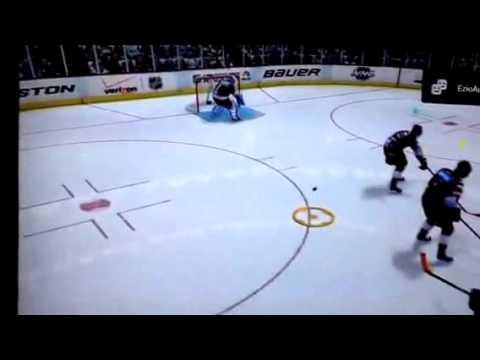 NHL 14 most insane backwards save in EASHL drop in