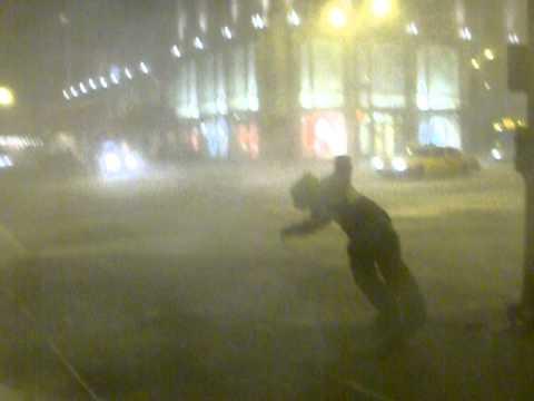 Burza śnieżna w Chicago