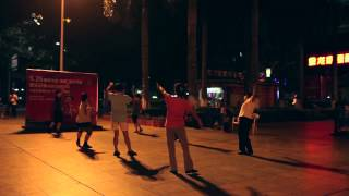 Wuzhou China  city pictures gallery : Communal dancing in Wuzhou - China