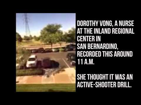 At least two gunmen entered the Inland Regional Center of San Bernardino, killing and wounding more than two dozen before fleeing.