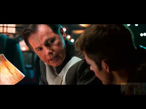 Star Trek Into Darkness - Admiral Pike and Kirk's Chat at Bar