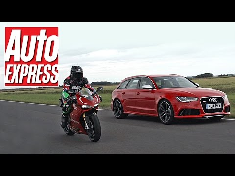 Battle - Audi now owns Ducati, so we decided to race the brands' most powerful models, the Audi RS6 and the Ducati 1199 Panigale R. Subscribe to our YouTube channel http://bit.ly/11Ad1j1 Subscribe...