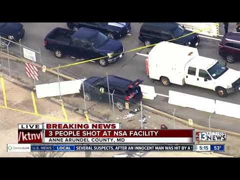 3 People shot at NSA facility
