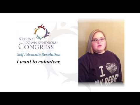 Watch video Down Syndrome Self Advocate Resolution