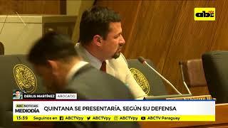 Quintana se presentaría, según su defensa