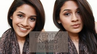 Everyday Neutral Makeup | Work & School Friendly | Simple Look | Brown skin