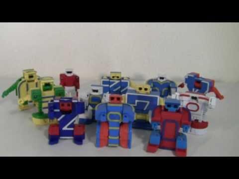 Numerobots Rima no Transformers! Español Spanish