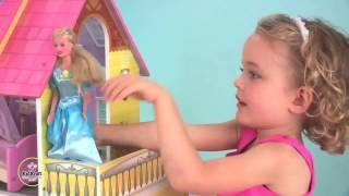 Kid's Kitchen .Toys for children . Cartoon for girls . Dolls for girls