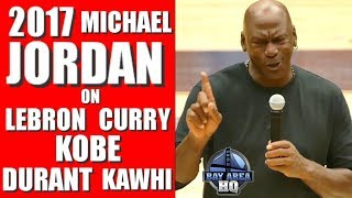 MICHAEL JORDAN on LEBRON JAMES, Kevin Durant, STEPHEN CURRY, Kobe Bryant