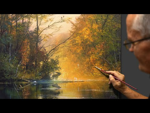 """""""Meeting at the watering hole"""" River landscape. Composer: Viktor Yushkevich."""