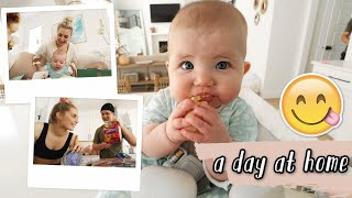 a day at home in quarantine!! grocery haul, new baby toys, waxing eyebrows! by Aspyn + Parker