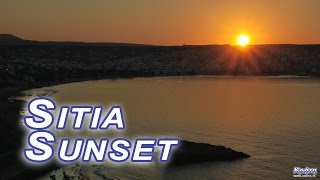 Sitia - sunset over the city