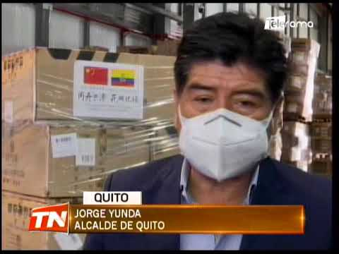 Embajada de China donó insumos y pruebas PCR al municipio de Quito
