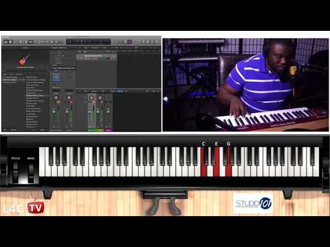 STUDIO 101 || Yaa Amponsah Ghana Highlife Piano Lessons || VERSION 1 || Piano Midi Chords Demo
