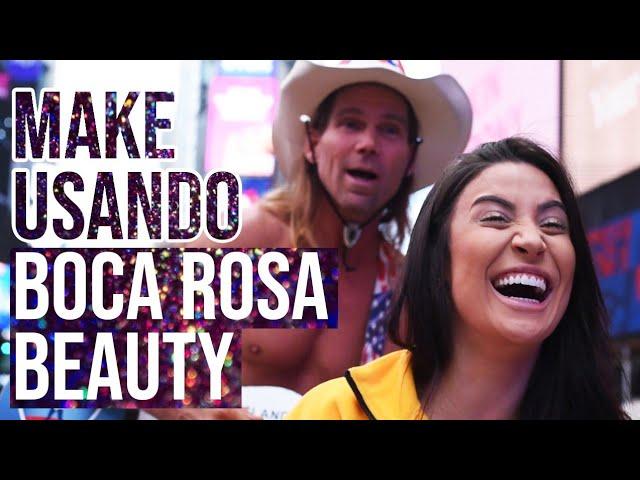 TUTO DE MAKE NA TIMES SQUARE!!!  - Boca Rosa