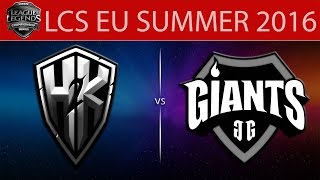 H2k vs Giants, game 1