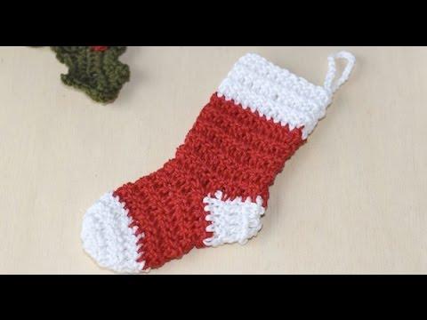 uncinetto – piccola calza natalizia