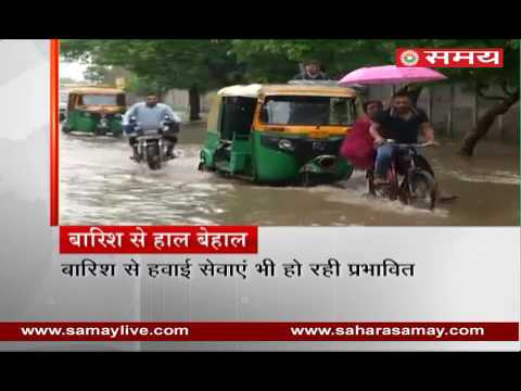 Roads submerged with heavy rains in Delhi and NCR