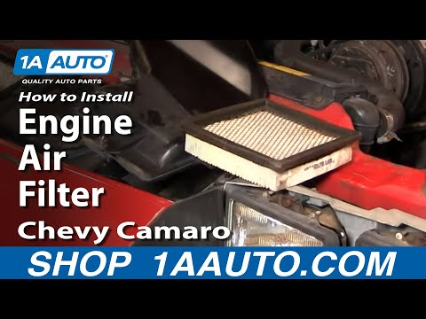 How To Install Replace Engine Air Filter Chevy Camaro Pontiac Trans Am Tuned Port 1AAuto.com