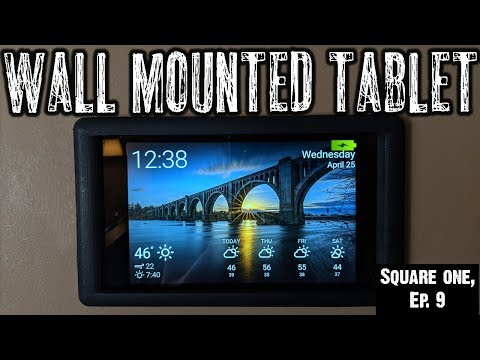 Square One, Ep. 9: Wall Mounting Tablet & Adding Outlet Behind! (видео)