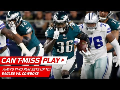 Ajayi's 71-Yd Run Sets Up Wentz's TD Pass & 2-Pt Toss to Jeffery! | Can't-Miss Play | NFL Wk 11 (видео)